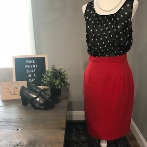 Vintage USA union made red pencil skirt